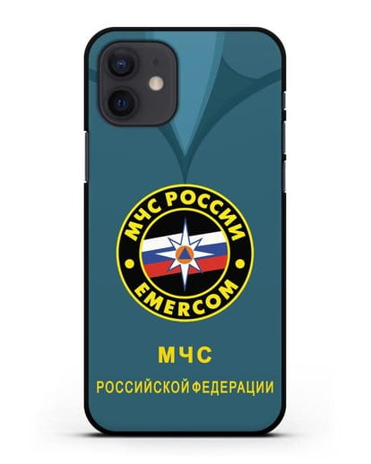 Чехол Китель с эмблемой МЧС России силикон черный для iPhone 12
