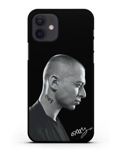 Чехол с фотографией Оксимирон силикон черный для iPhone 12