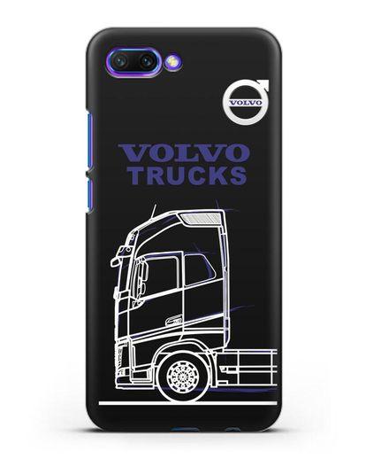 Чехол с изображением Volvo Trucks силикон черный для Honor 10