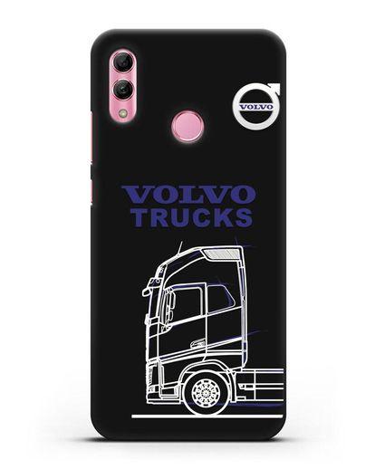 Чехол с изображением Volvo Trucks силикон черный для Honor 10 Lite