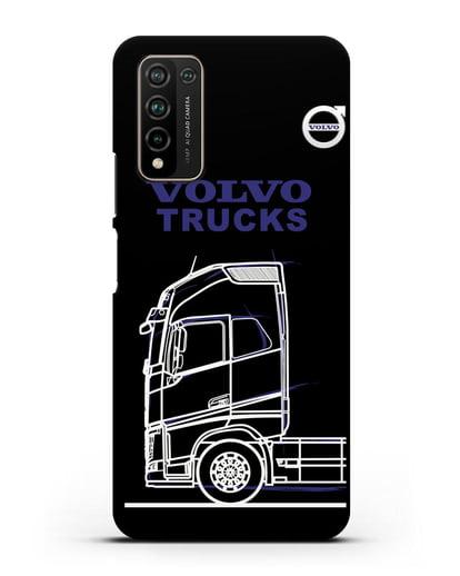 Чехол с изображением Volvo Trucks силикон черный для Honor 10X Lite