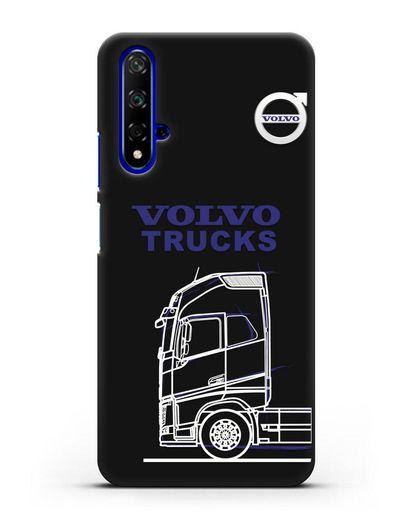 Чехол с изображением Volvo Trucks силикон черный для Honor 20