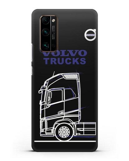 Чехол с изображением Volvo Trucks силикон черный для Honor 30 Pro