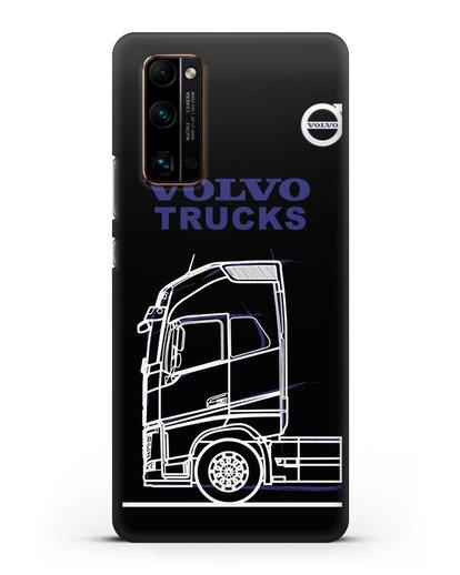 Чехол с изображением Volvo Trucks силикон черный для Honor 30 Pro Plus