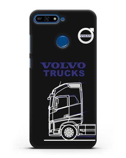Чехол с изображением Volvo Trucks силикон черный для Honor 7А Pro