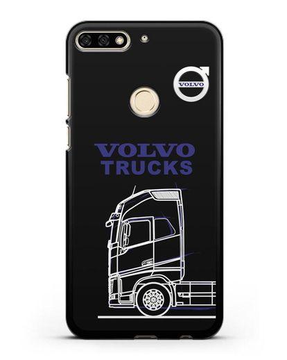 Чехол с изображением Volvo Trucks силикон черный для Honor 7C