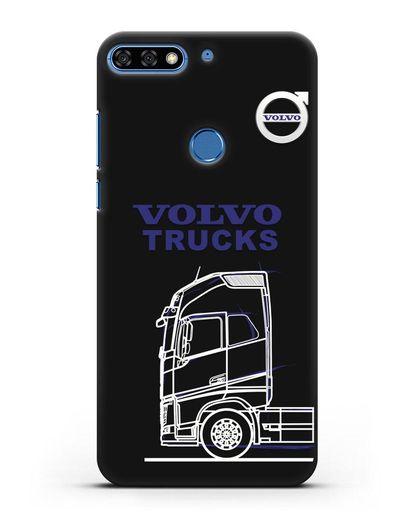 Чехол с изображением Volvo Trucks силикон черный для Honor 7C Pro