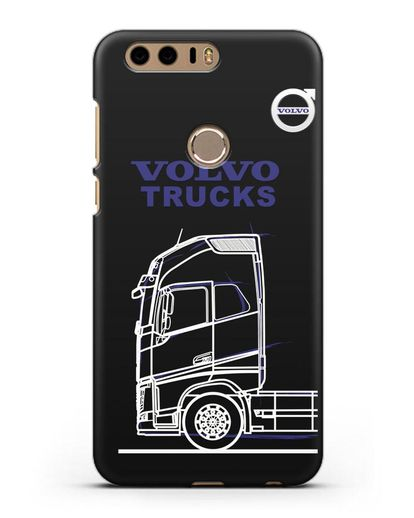 Чехол с изображением Volvo Trucks силикон черный для Honor 8