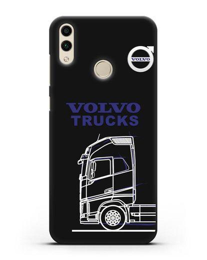 Чехол с изображением Volvo Trucks силикон черный для Honor 8C