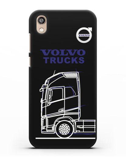 Чехол с изображением Volvo Trucks силикон черный для Honor 8S Prime