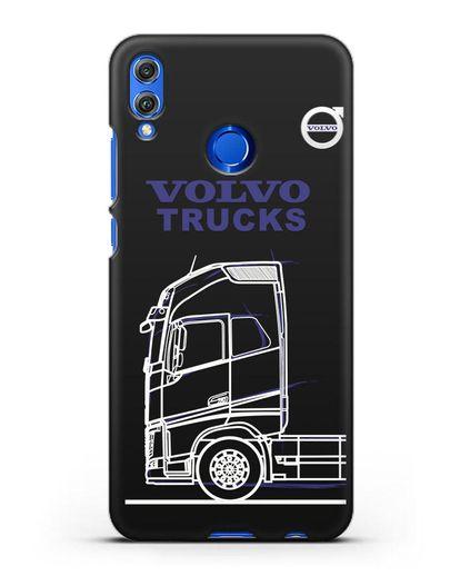 Чехол с изображением Volvo Trucks силикон черный для Honor 8X
