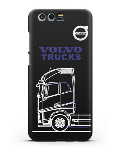 Чехол с изображением Volvo Trucks силикон черный для Honor 9