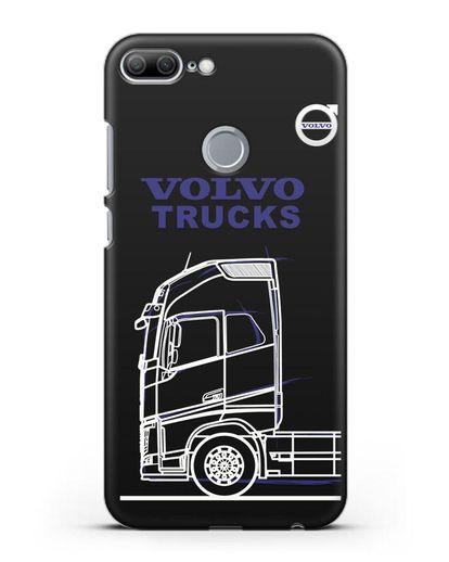 Чехол с изображением Volvo Trucks силикон черный для Honor 9 Lite