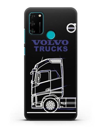 Чехол с изображением Volvo Trucks силикон черный для Honor 9A