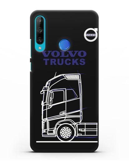 Чехол с изображением Volvo Trucks силикон черный для Honor 9C