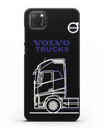 Чехол с изображением Volvo Trucks силикон черный для Honor 9S