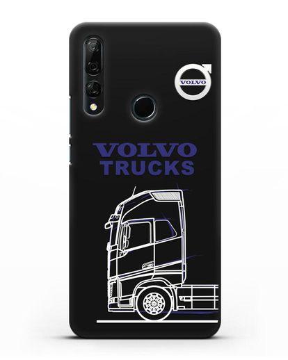 Чехол с изображением Volvo Trucks силикон черный для Honor 9X