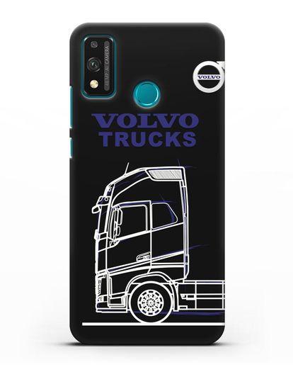 Чехол с изображением Volvo Trucks силикон черный для Honor 9X lite