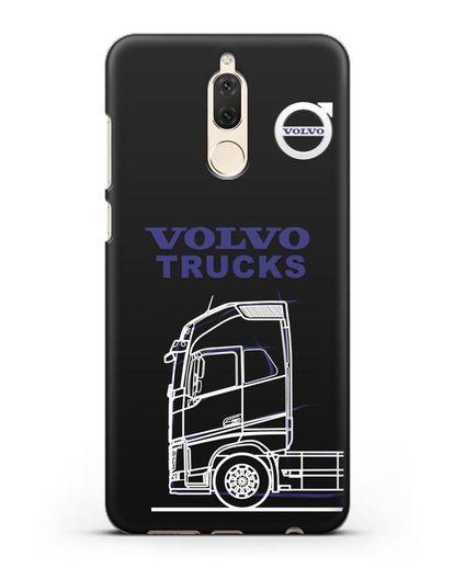 Чехол с изображением Volvo Trucks силикон черный для Huawei Mate 10 Lite