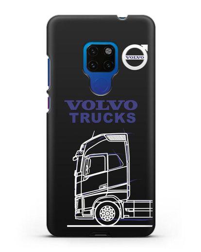 Чехол с изображением Volvo Trucks силикон черный для Huawei Mate 20
