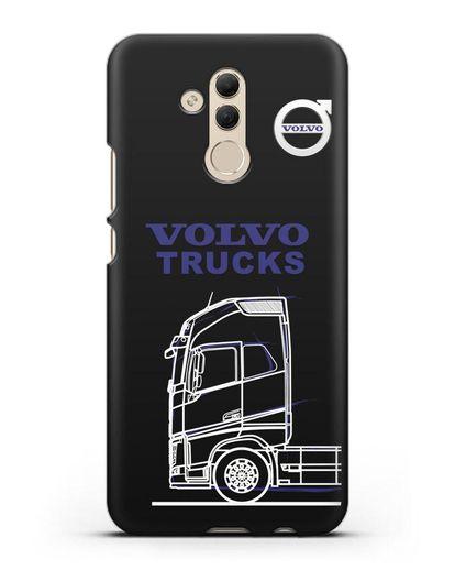 Чехол с изображением Volvo Trucks силикон черный для Huawei Mate 20 Lite
