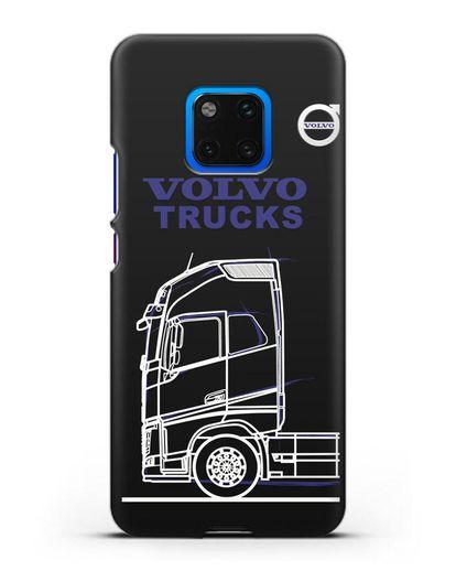 Чехол с изображением Volvo Trucks силикон черный для Huawei Mate 20 Pro