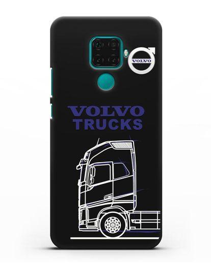 Чехол с изображением Volvo Trucks силикон черный для Huawei Mate 30 Lite