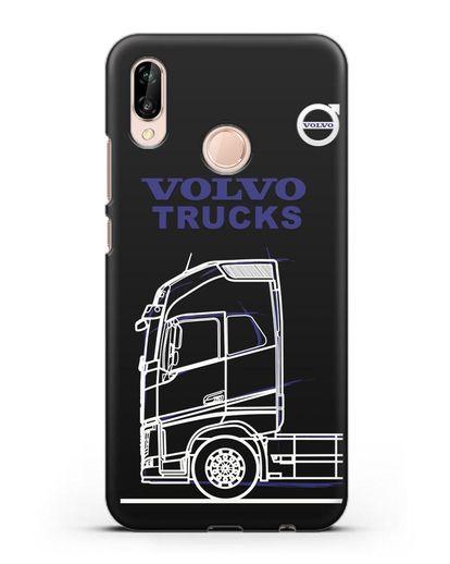 Чехол с изображением Volvo Trucks силикон черный для Huawei P20 Lite