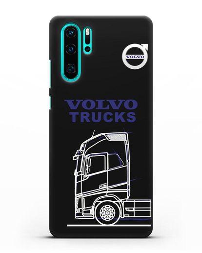 Чехол с изображением Volvo Trucks силикон черный для Huawei P30 Pro