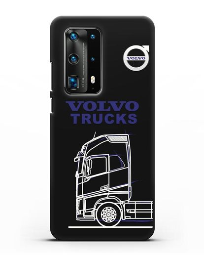 Чехол с изображением Volvo Trucks силикон черный для Huawei P40 Pro