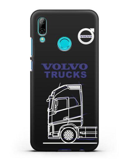 Чехол с изображением Volvo Trucks силикон черный для Huawei P Smart 2019