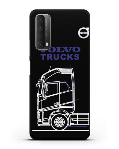 Чехол с изображением Volvo Trucks силикон черный для Huawei P Smart 2021
