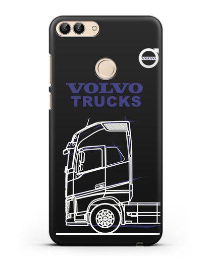 Чехол с изображением Volvo Trucks силикон черный для Huawei P Smart