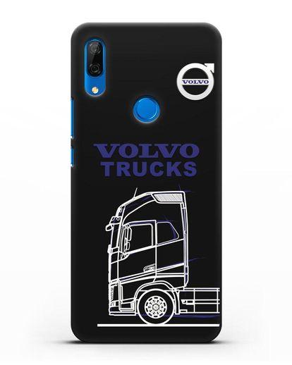 Чехол с изображением Volvo Trucks силикон черный для Huawei P Smart Z
