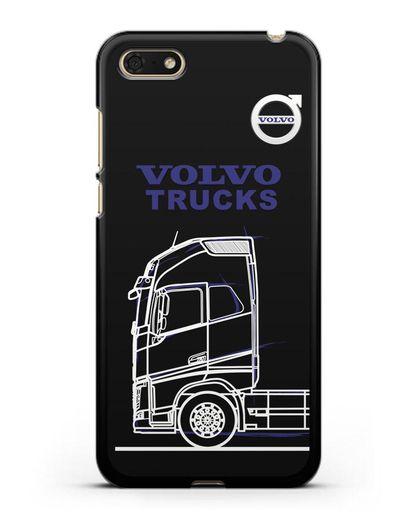 Чехол с изображением Volvo Trucks силикон черный для Huawei Y5 Prime 2018