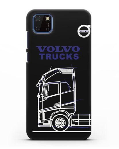 Чехол с изображением Volvo Trucks силикон черный для Huawei Y5P