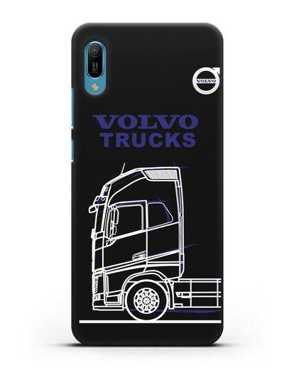 Чехол с изображением Volvo Trucks силикон черный для Huawei Y6 2019