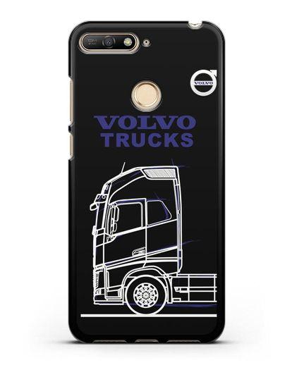 Чехол с изображением Volvo Trucks силикон черный для Huawei Y6 Prime 2018