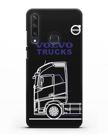 Чехол с изображением Volvo Trucks силикон черный для Huawei Y6P