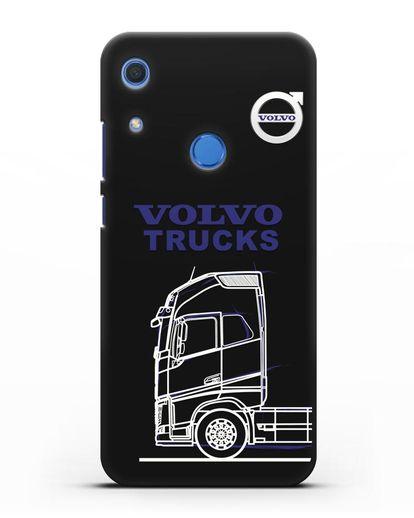 Чехол с изображением Volvo Trucks силикон черный для Huawei Y6s