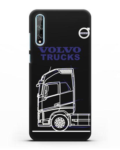 Чехол с изображением Volvo Trucks силикон черный для Huawei Y8P