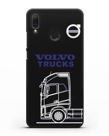 Чехол с изображением Volvo Trucks силикон черный для Huawei Y9 2019