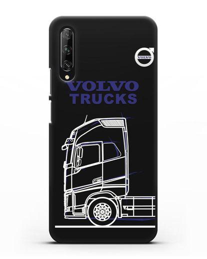 Чехол с изображением Volvo Trucks силикон черный для Huawei Y9s