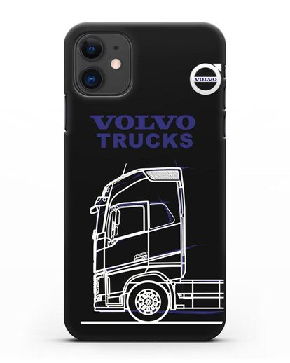 Чехол с изображением Volvo Trucks силикон черный для iPhone 11
