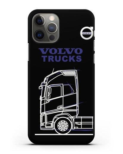 Чехол с изображением Volvo Trucks силикон черный для iPhone 12 Pro