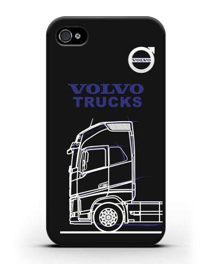 Чехол с изображением Volvo Trucks силикон черный для iPhone 4/4s