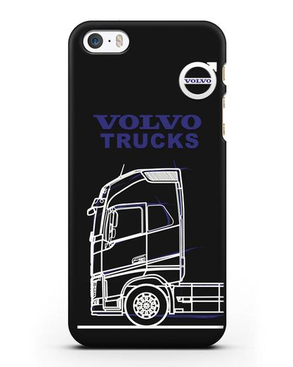 Чехол с изображением Volvo Trucks силикон черный для iPhone 5/5s/SE