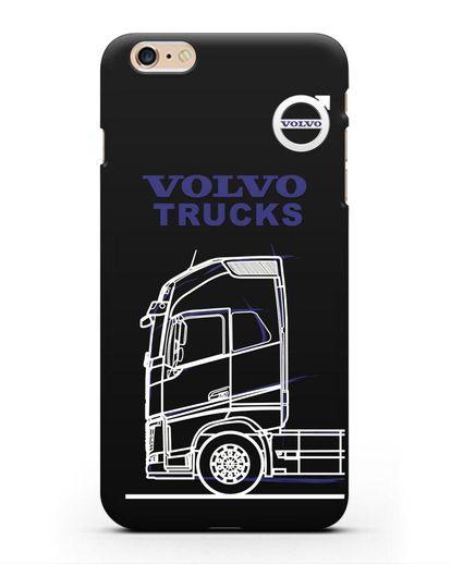 Чехол с изображением Volvo Trucks силикон черный для iPhone 6s Plus