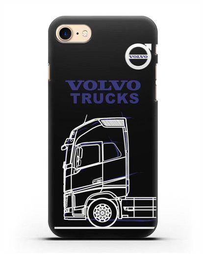 Чехол с изображением Volvo Trucks силикон черный для iPhone 8