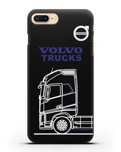 Чехол с изображением Volvo Trucks силикон черный для iPhone 7 Plus